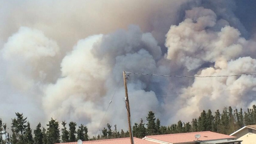 forest fire forces hundreds from stanley mission