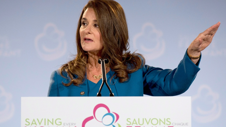 Melinda Gates speaks as she attends the Maternal, Newborn and Child Health Summit in Toronto on Thursday, May 29, 2014. (Nathan Denette / THE CANADIAN PRESS)