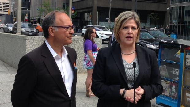 NDP's Andrea Horwath touts transit plan