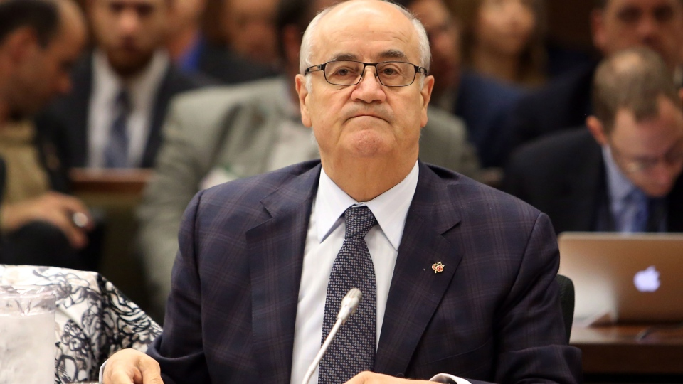 Veterans Affairs Minister Julian Fantino, attends a Commons veterans committee in Ottawa, Thursday May 29, 2014. (Fred Chartrand / THE CANADIAN PRESS)