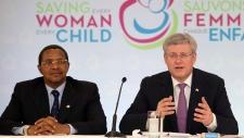 Stephen Harper at maternal health summit