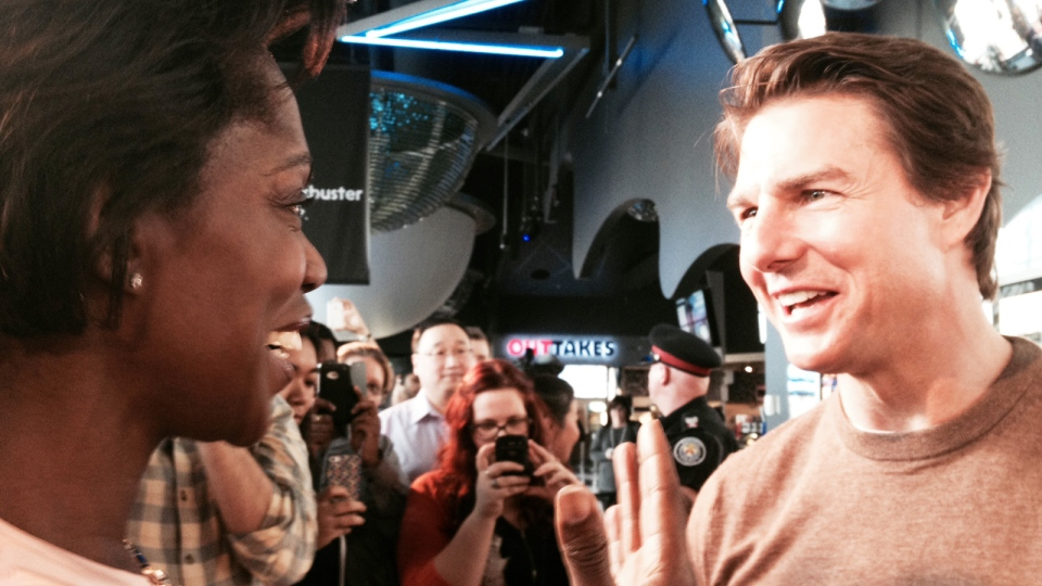 Andria Case meets actor Tom Cruise in Toronto on Thursday, May 30, 2014. (Andria Case / CTV Toronto)