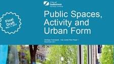 The plan looks at the public spaces downtown, with ideas on how to make them more pedestrian friendly.