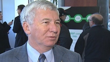 Kitchener Mayor Carl Zehr comments on the GO trains coming to Waterloo Region on Friday, Nov. 25, 2011.