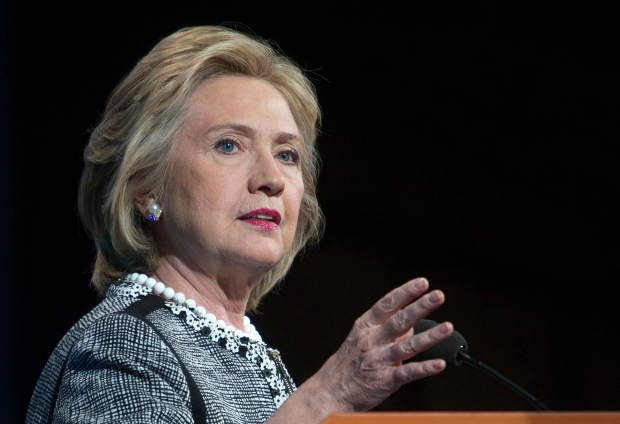 Hillary Clinton speaks in Washington