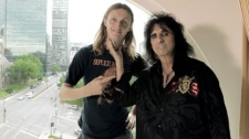 Host Sam Dunn gets heavy with legend Alice Cooper.