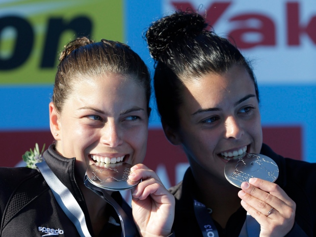 Canadian divers Meaghan Benfeito, Roseline Filion