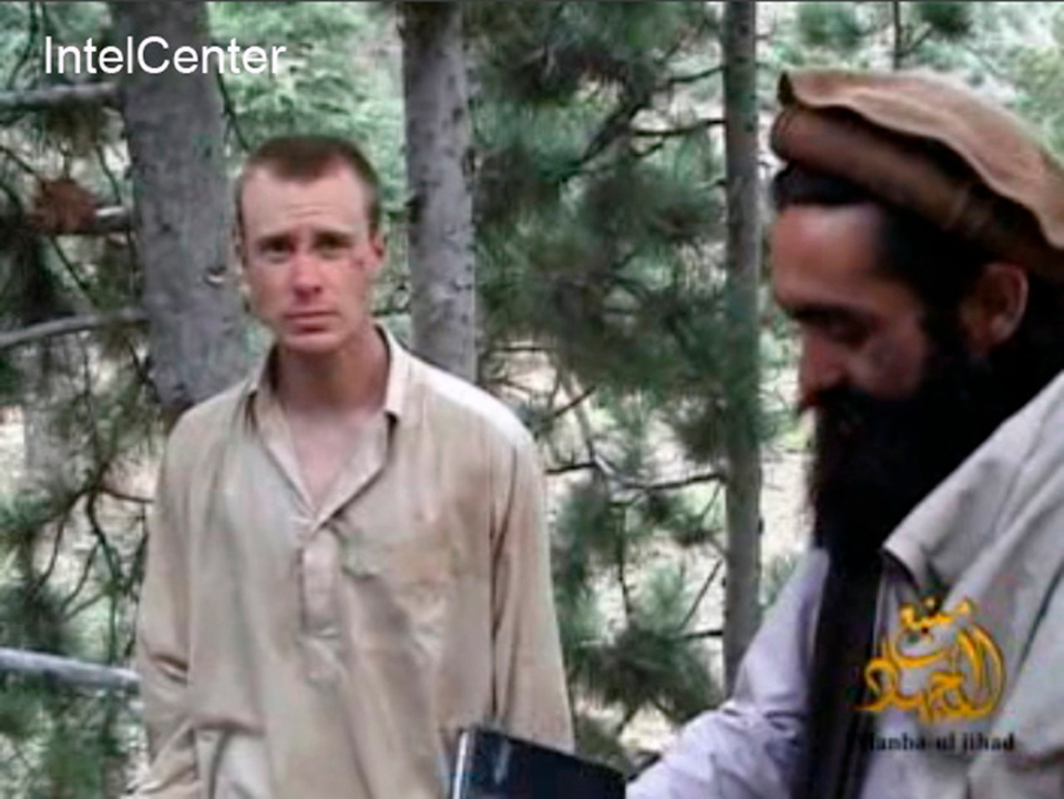 This file image provided by IntelCenter on Dec. 8, 2010 shows a frame grab from a video released by the Taliban containing footage of a man believed to be Bowe Bergdahl. (AP / IntelCenter / File)