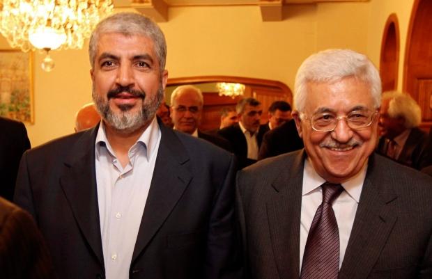 Khaled Mashaal and Mahmoud Abbas