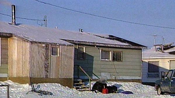 A house is shown in the reserve community of Attawapiskat in this undated photo.