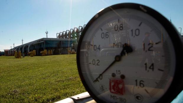 Gas storage facilities in Strij, Ukraine