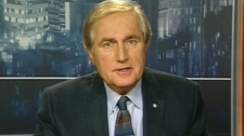 Former Saskatchewan premier Roy Romanow appears on CTV's Question Period on Sunday, Nov. 27, 2011.