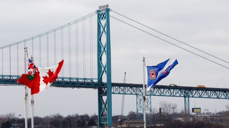 The current link between Windsor and Detroit, the Ambassador Bridge, pictured from Windsor, Ont., on Nov., 26, 2010. (CP / Brent Foster)