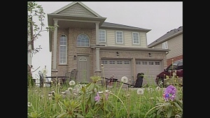 The home where a 10-year-old boy was allegedly confined for up to two years is seen in London, Ont. on Monday, June 2, 2014. (Daryl Newcombe / CTV London)
