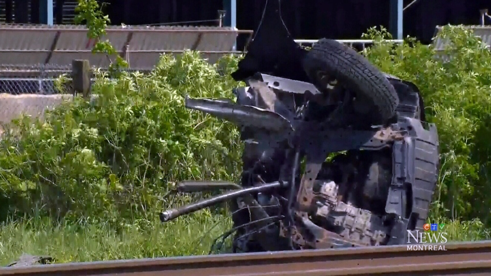 Two people are dead following a crash between and VIA Rail train an car in St-Liboire, Que., Monday, June 2, 2014.