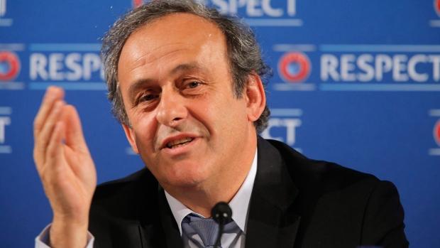Michel Platini in Nice, France
