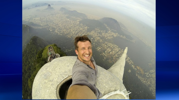 Selfie taken on Rio's Christ the Redeemer statue