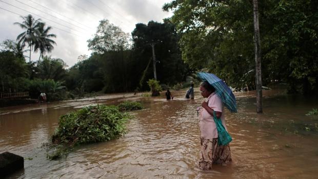 Flooding in Mathugama, Sri Lanka