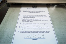Tim Hudak signs accountability oath