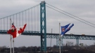 The Ambassador Bridge at the Windsor-Detroit inetrnational crossing is pictured from Windsor, Ontario on Friday November, 26, 2010. (Brent Foster / THE CANADIAN PRESS)
