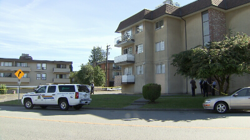 An apartment building on Walker Avenue is behind police tape following the death of a man who was tasered by the RCMP.