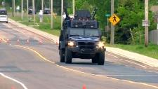 Monton shooting lockdown as gunman on the loose