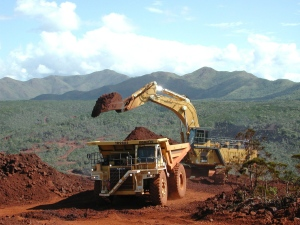 Ore is taken from Inco's Goro Project in New Caledonia in this undated handout photo. (ho-Inco / THE CANADIAN PRESS)