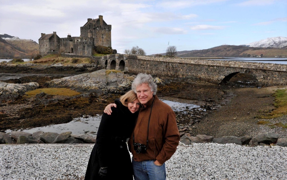 Jeff and Corinna Widener in Scotland 2014 after they met in Beijing on the 20th anniversary of the Tiananmen crackdown. Photo/Courtesy Jeff Widener