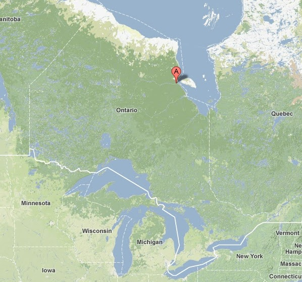 Attawapiskat, northern Ontario community, Attawapiskat map, Google