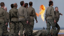 Actors perform at D-Day commemorations in France