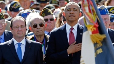 Obama at D-Day ceremony in France