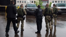 Justin Bourque appears in a Moncton court
