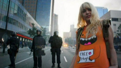 Alicia Price has been charged with rioting and arson for her alleged role in Vancouver's Stanley Cup riot. June 15, 2011. (CTV)