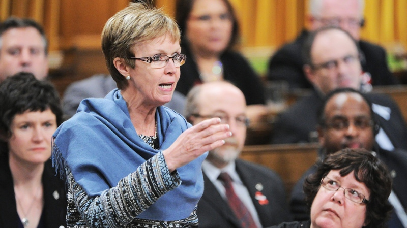 New Democratic Party Nycole Turmel stands during question period in the House of Commons on Parliament Hill in Ottawa on Thursday, Dec. 1, 2011. (Sean Kilpatrick / THE CANADIAN PRESS)