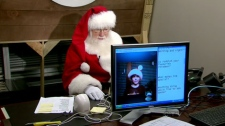 Santa on Skype.