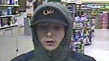 Ottawa police have released this picture of a suspect in the robbery of a Carling Avenue pharmacy Tuesday, Nov. 29, 2011.