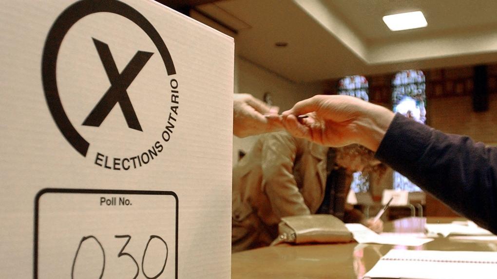 Ontario election ballot