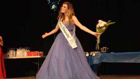 Sophie Laboissonniere wins the Miss Congeniality award at the 2011 Miss Coastal Vancouver pageant.