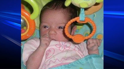 Four-month-old Zaria McCall is shown in an undated image from Facebook.