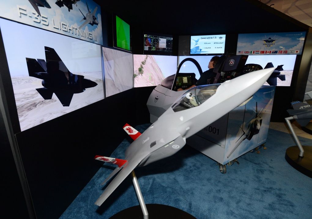 Lockheed Martin displays an F-35 simulator