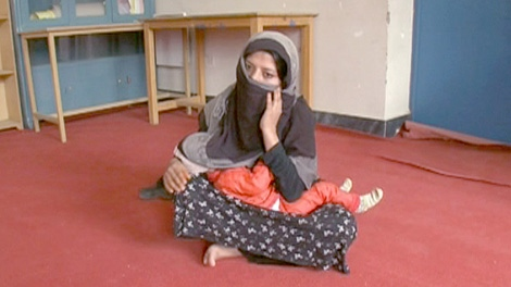 An Afghan rape victim known only as Gulnaz, who has been imprisoned, is shown here.