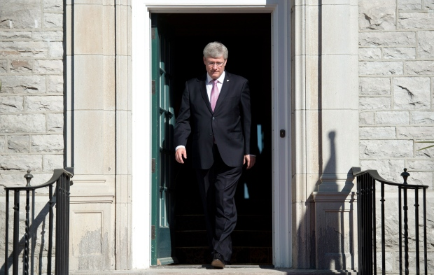 Stephen Harper at 24 Sussex