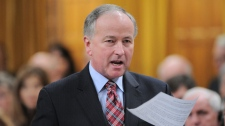 Minister of Justice Rob Nicholson stands during question period in the House of Commons on Parliament Hill in Ottawa on Thursday, December 1, 2011.