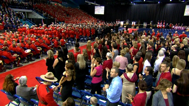 RCMP funeral underway in Moncton live now