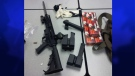 The London Police Service provided this image of an assault rifle and ammunition seized by police in London, Ont. on Monday, June 9, 2014.