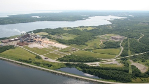 A Northern Resources Nova Scotia Corporation pulp mill is shown from the air this undated handout photo released on March 30, 2011. (THE CANADIAN PRESS)