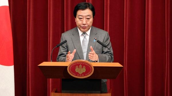 Japan's Prime Minister Yoshihiko Noda speaks during a press conference at the prime minister's official residence in Tokyo, Japan, Thursday, Dec. 1, 2011. (AP / Junji Kurokawa)
