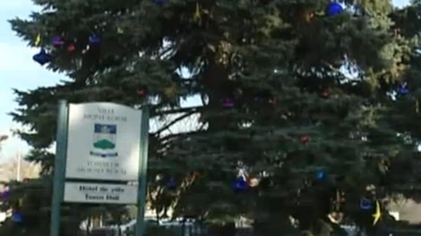 The giant Christmas tree outside TMR City Hall is acceptable, but the religious symbols are out.
