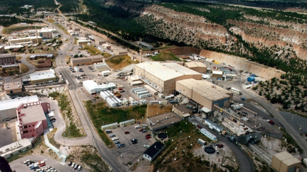 This undated aerial view shows the Los Alamos National laboratory in Los Alamos, N.M. (AP Photo/Albuquerque Journal)