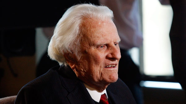 In this Dec. 20, 2010 photo, evangelist Billy Graham, 92, is interviewed at the Billy Graham Evangelistic Association headquarters in Charlotte, N.C. (AP / Nell Redmond)